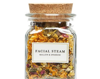Organic Herbal Facial Steam- detox your skin for a bright new you - mother's day