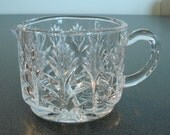 Glass Sugar Bowl and Creamer Set