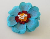 Flower Brooch Accessory - Handmade Flower Pin Design - Floral Accessory - Great for Weddings & Parties - Bridesmaid Accessory