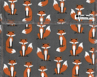 EcoBagIt! XL - Keep Fresh reusable sandwich bag: MR. FOX