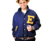 80s Varsity Letter Jacket, Varsity Hockey Jacket, School Letter Jacket, Size L