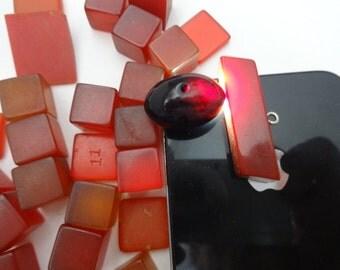 57 pcs 126 grams Cherry Amber German Factory Faturan Bakelite Beads & Dice