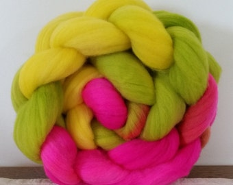 Wool Roving- Jelly Bean