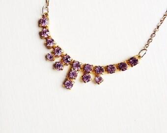 Lilac Diamante Necklace