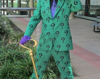Riddler Patch Question Mark Symbol  Iron ons FOR Jacket or Body suit Purple Green Black Cosplay Comic Con