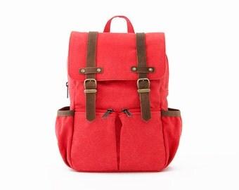 CityKid Anti-Lost Kids Backpack / Canvas Backpack / Kids Bag / Red