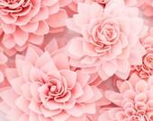 "10 3"" Pink Wooden Flowers, Wedding Decorations, Wedding Flowers, Rustic Wedding Decor"