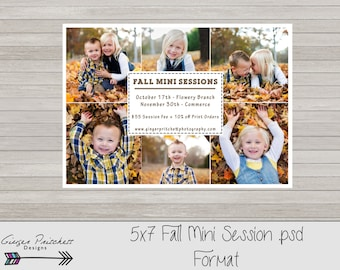 Fall Photography Marketing Board- Fall Mini Session Flyer - Mini Session Template - Fall Marketing - Digital Download