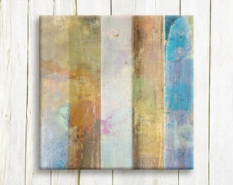Geometric abstract Art print - Square Contemporary art print on canvas - Office decor