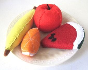 Felt Fruit, Pretend Play Food Apple, Banana