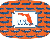 Personalized Melamine Platter Florida Serving Tray Melamine Game Day Dishes Custom Tailgate Tray All States Available