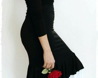 Flamenco Skirt 03 - Black/White Circle