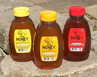 3 lb. Honey Sampler - Spring Blossom, Summer Wildflower, Fall Goldenrod 1 lb each Ohio Honey