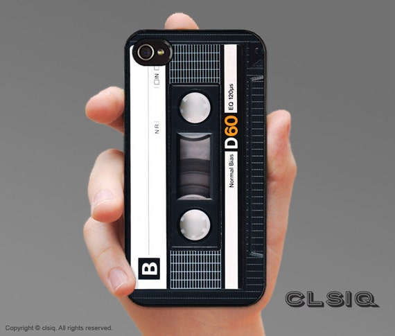 Retro Audio Cassette Tape Case for iPhone 6/6S, 6+/6S+, 5/5S, 5C, 4/4S, iPod Gen 5, Samsung Galaxy S6, Galaxy S5, Galaxy S4, Galaxy S3