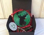 Eco Friendly Reindeer Ornament Green