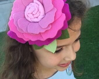 Oversize Easter blossom felt headband
