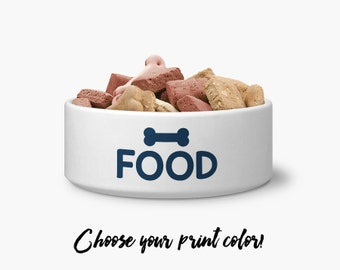 Dog Bone Food Bowl // Dog or Cat Pet Bowl // Available in 2 Sizes