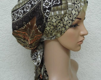 Head scarf, bad hair day scarf, elegant tichel, women's head snood, bonnet for long hair, long hair wrap, hair scarf