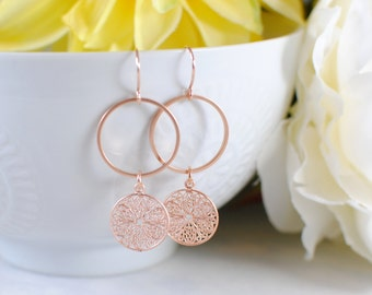 The Veronica Earrings - Rose Gold