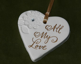 Clay Calligraphy Heart