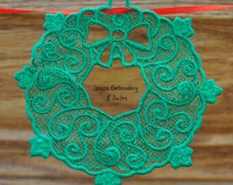 Lace Wreath Ornament