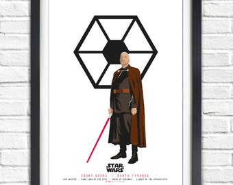 Star Wars - Solo Series - Count Dooku - 19x13 Poster