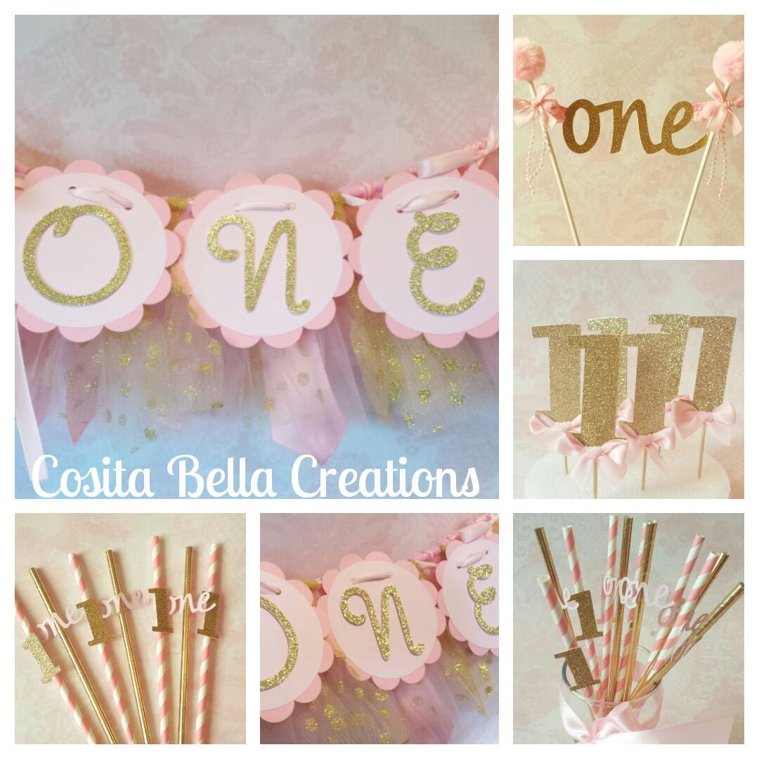 Gold Birthday Decorations Pink And Gold Birthday Decorationspink And Gold 1st Birthday