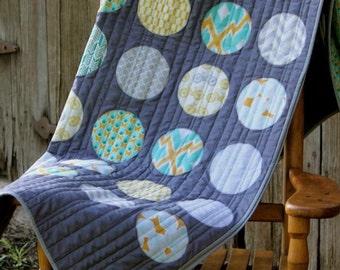 Handmade circle lap quilt