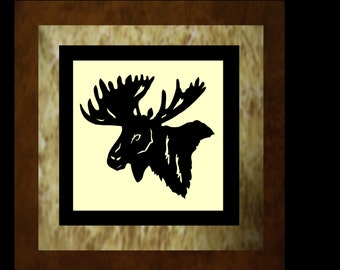 WILDLIFE SERIES - Moose Quilt KIT with Pre-cut Laser Fabric Applique silhouettes
