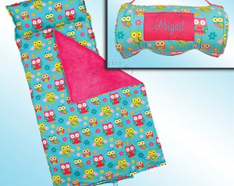 Owl Nap Mat - All Over Printed - Personalized and Embroidered