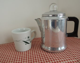 4 Cup Stove Top Percolator, Worthmore brand, Aluminum, Like new condition, Vintage