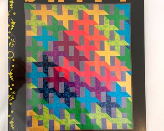 SHIFT quilt pattern by Alison Glass NEW - 3 sizes - interlocking Xs and Os - half square triangles HSTs