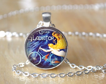 Bicycle Necklace - Bicycle Pendant - Bicycle Jewelry L37