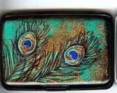 Peacock Feather RFID Blocking  Wallet