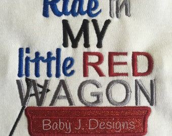 Little Red Wagon bodysuit or shirt