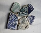 Beach pottery sea glass china Scottish beach finds jewelry supplies art and craft supply (66)