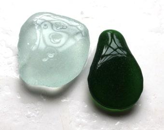 green and white perfec jewelry quality sea glass seaglass beach jewelry Scottish vintage glass