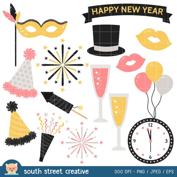 New Year's Eve, Party, Happy New Year | Cute Clipart, Vector Clip Art ...