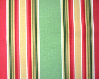OUTDOOR Pillow Cover / Orange and Lime Stripe Print / Pillow Cover