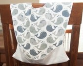 CHOOSE PRINT Pocket Bib - Waterproof Bib - Baby Toddler Bib - Feeding Bib - Crumb Catcher - Snap Neck - Washable - Shower Gift  - One Size