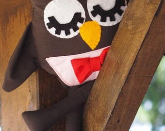 """Doctor Who Eleventh Doctor Inspired Plush Owl 40cm/15.5"""" tall"""