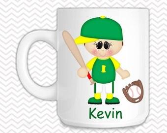 Baseball Kids Mug - Personalized Baseball Mug - Customized Mug - Melamine Cup - Personalized Kids cup