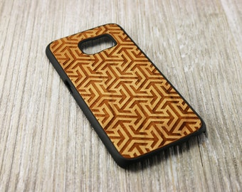 Egyptian Style Wooden Cell Phone Case - iPhone 6 - iPhone 6 plus - iPhone 6s - iPhone 6s plus - Samsung Galaxy S6 - Samsung Galaxy S7