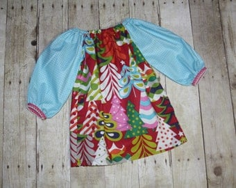 18m Ready to Ship Christmas Treelicious Dress in for Baby, toddler, and girls size 18m