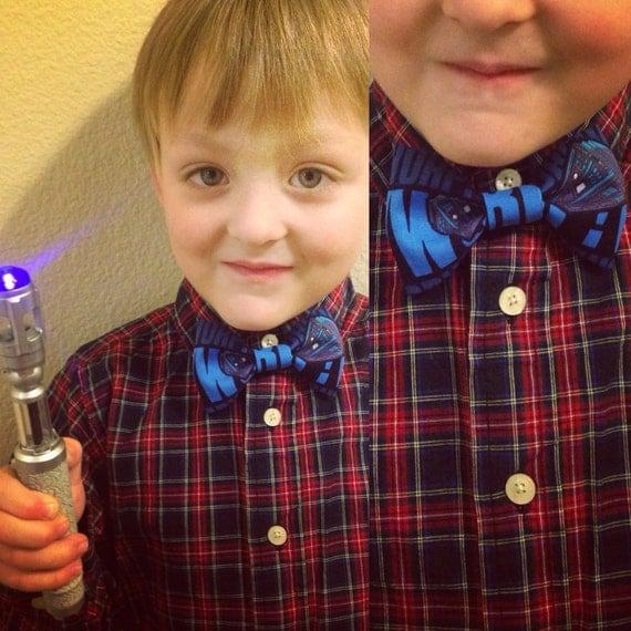 Kids' Dark Blue TARDIS Bowtie/Hair Bow