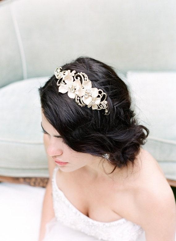 JOIE Gold Bridal Headband