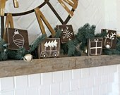 Mini Rustic Christmas Signs - Rustic Home Decor - Christmas Decor - Christmas Tree - Holiday Sign - Christmas Decoration - Distressed Sign