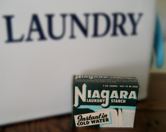 Vintage Niagara Laundry Starch - Laundry Room Decor - Niagara Instant Starch - Retro Laundry Room Display - Vintage Laundry Products