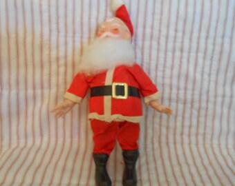 "Vintage Stand Up Santa-9"" Tall-Hard Body"