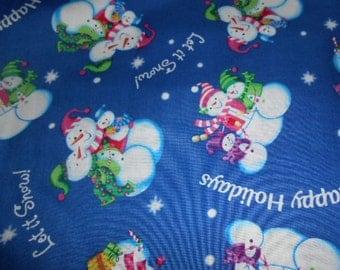 Snowman Cotton Fabric